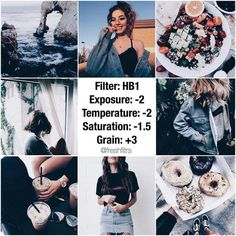 FREE FILTER‼️ blue-ish kinda dark feed🌊 this will honestly work on all pictures, the only thing i would suggest is if you have a pic with a… Vsco Filter Blue, Vsco Cam Filters, Insta Filters, Vsco Feed, Instagram Theme Vsco, Instagram Feed Themes, Vsco Gratis, Foto Filter, Dark Feeds
