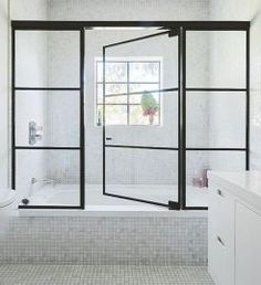 37 Fraud Deceptions And Downright Lies About Frankford Shower Door Exposed 291 Bathroom Renos, White Bathroom, Bathroom Furniture, Bathroom Remodeling, Bathroom Small, Remodeling Ideas, Master Bathroom, Glass Shower Doors, Shower Tub