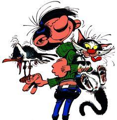 Gaston, le chat et la mouette