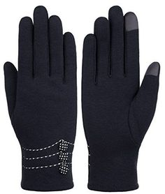 18eeaca54 Womens Touch Screen Warm Winter Gloves with Button Lined Thick lining  Windproof