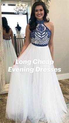 Affordable Prom Dresses, Cheap Evening Dresses, Formal Dresses, White Tulle, Tulle Prom Dress, Unique, Fashion, Dresses For Formal, Moda