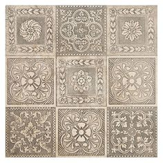 Information about Caspari™ Antiqued Silver Tile Kitchen Wall Tiles, Bathroom Floor Tiles, Tile Floor, Tiles Uk, Blue Tiles, Floor Patterns, Tile Patterns, Garden Tiles, Topps Tiles