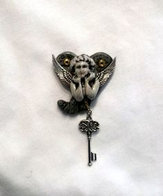 Angel Heart  Steampunk Bead of Pendant Just in Time for by mkirby, $25.00
