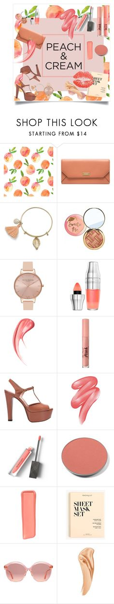 """""""Be a peach"""" by natwlia ❤ liked on Polyvore featuring beauty, Bally, Too Faced Cosmetics, Olivia Burton, Lancôme, L'Autre Chose, Clinique, Burberry, Chantecaille and Victoria's Secret"""