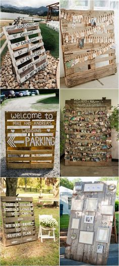 rustic wedding signs with wood pallets #weddingdecor #weddingideas #rusticweddings #countryweddings