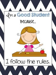 I'm A Good Student Because... Poster set