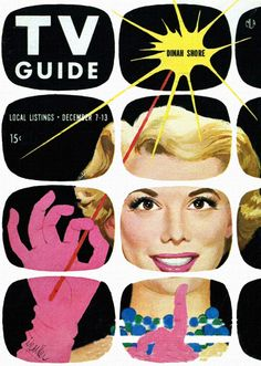 Dinah Shore, art by Al Parker - TV Guide - December 7-13, 1957