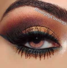 Bronze and coppery tones to match a copper toned #quinceanera dress