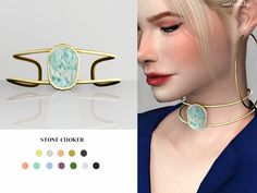 The Sims Resource - Stone choker by Serenity for The Sims 4 The Sims 4 Pc, Sims 4 Cas, My Sims, Sims Cc, Sims 4 Game Mods, Sims Mods, Sims 4 Mods Clothes, Sims 4 Clothing, Sims 4 Piercings