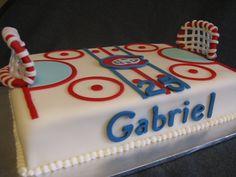 Hockey Birthday Cake cakepins.com