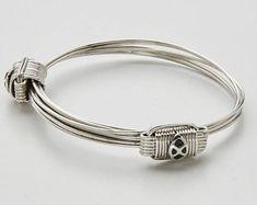 Pulsera pelo elefante en plata con nudos corredizos. Bracelets, Etsy, Jewelry, Fashion, Silver Bracelets, New Trends, Hunting, Knots, Atelier