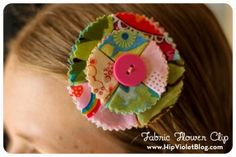 Fabric Flower Hairclip (includes a link to DIY)