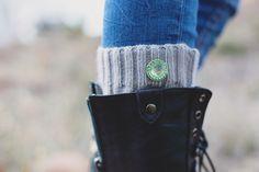 Green Round Rhinestone