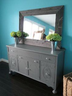 Barnboard framed mirror!