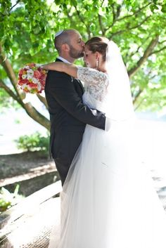 Romance is in the air. Chic Wedding Dresses, Bridal Boutique, Bridal Accessories, Veil, Bridal Gowns, Real Weddings, One Shoulder Wedding Dress, Wedding Day, Romance