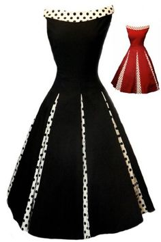 Aprils Classy New Black Rockabilly 1950's Vintage Swing Evening Dress for only $64.99 You save: $25.00 (28%)