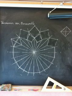 Waldorf ~ 6th grade ~ Geometric Drawing ~ chalkboard drawing