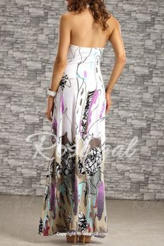 Bohemian Halter Backless Printed Long Dress For Women Maxi Dresses   Check out the front and the price under 17.00 including shipping!