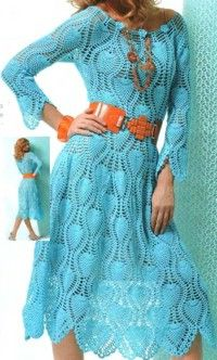 International Crochet Patterns, love this dress with pineapple motifs