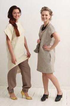 Linen tunic dress Casual linen dress Classic by mimiiMadeIt