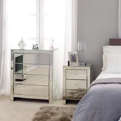 Venetian Mirrored Bedroom Furniture Collection