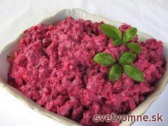 Cviklový šalát so zelerom a jogurtom Celery Salad, Arugula, Greek Yogurt, Beets, Meal Prep, Ale, Raspberry, Food And Drink, Homemade