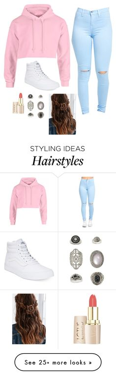 Polyvore featuring Vans and Topshop