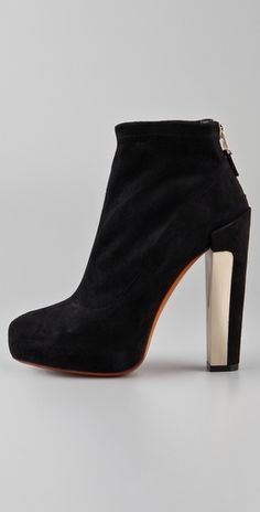 B Brian Atwood    Edeline Suede High Heel Booties  Style #:BRIAN20000  $450.00    $315.00 (30% off): Black
