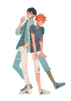 ohprcr: Volleyball boyfriends + stripes