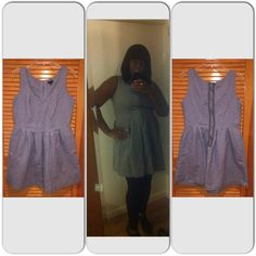 I HEART RONSON Dress I HEART RONSON Dress - Worn & Washed 1-4 times...in great condition!👍 - Material: 98% Cotton & 2% Spandex - Color: Grey - Size: 16 - No stains, holes or smells ✔️ I Heart Ronson Dresses