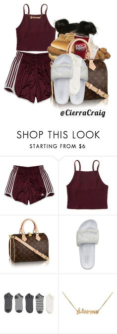 """""""Chill Day With Bae 2.0"""" by cierracraig ❤ liked on Polyvore featuring adidas, Aéropostale, Puma, Forever 21 and Lee Renee"""