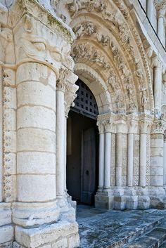 West portal, Notre Dame de Echillais, Echillais (Charente-Maritime)  Photo by PJ McKey