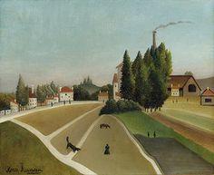 Henri Rousseau: Landschaft mit Fabrik (Paysage avec usine). Um 1896-1906
