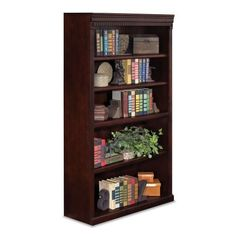 Huntington Club Five Shelf Traditional Bookcase 60″ H – see your pattern
