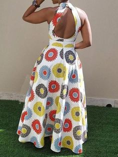 Ericdress Print Floor-Length Sleeveless Standard-Waist Pullover Dress Source by fashion dresses Latest African Fashion Dresses, African Print Dresses, African Dresses For Women, African Print Fashion, Africa Fashion, African Attire, African Inspired Fashion, Ankara Fashion, African Men