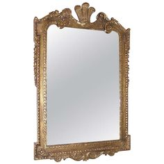 English Gilt Carved Wood Prince of Wales Wall Mirror, Circa 1830 | From a unique collection of antique and modern wall mirrors at https://www.1stdibs.com/furniture/mirrors/wall-mirrors/