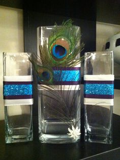 Cindy's Custom Unity Sand Set Peacock by StepStepIDo on Etsy Peacock Centerpieces, Peacock Decor, Wedding Centerpieces, Wedding Decorations, Peacock Theme, Peacock Colors, Our Wedding, Dream Wedding, Wedding Ideas