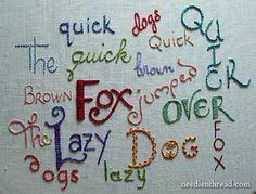 Beautiful alphabet sampler by Mary Corbet of Needle N Thread, one of the best sites to learn about embroidery.
