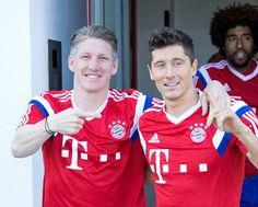 Bastian Schweinsteiger & Robert Lewandowski #Training #FCBayern