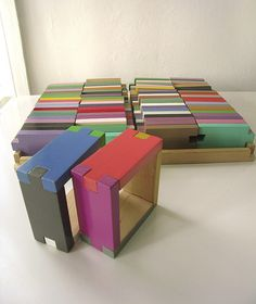 Color blocks from the flea market (wish I had found them!) According to the description on the Wary Meyers Decorative Arts website, this likely was an old collaboration between Josef Albers, Donald Judd and Bill Ding.