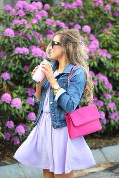 Gucci Sunglasses, Lilac Dress
