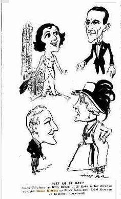 Edith Taliaferro; J. B. Rowe; House Jameson; Ethel Morrison  (Let Us Be Gay), 1930