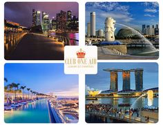 Enjoy a beautiful birds eye view of Singapore. Travel with Club One Air this holiday season.
