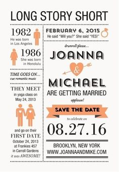 Infographic Themed Save The Date