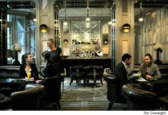 Coburg Bar and Connaught Bar at the Connaught Hotel in London (Photos) - Luxist Connaught Hotel, Bar Interior, London Photos, Cafe Bar, Cool Bars, Restaurant Bar, Night Life, Tea Houses, Liverpool