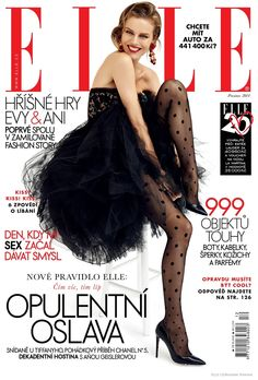 Elle Czech - December 2014 - Eva Herzigova and actress Anna Geislerová - ph Branislav Simoncik