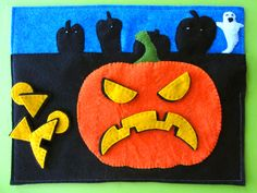 LED Halloween Jack-o-lantern Quiet Book Page (and giveaway!)