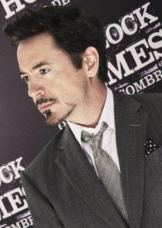 "Robert Downey Jr. (""Sherlock Holmes: A Game of Shadows"" premiere in Brazil, but already back in Tony Stark facial hair)."