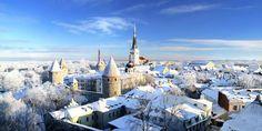 Vista de la ciudad de Tallin, Estonia