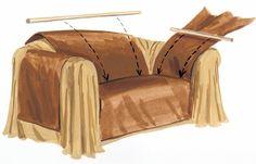 How to make a sofa wrap.